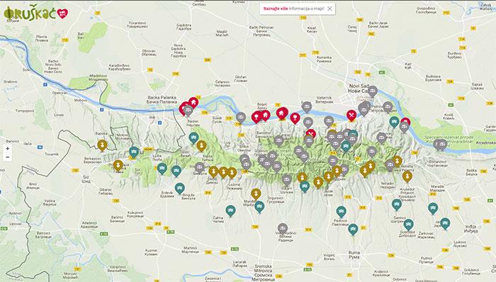 fruska gora mapa Tajna mapa Fruške gore   oradio.rs fruska gora mapa